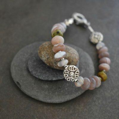 Stone Bead Bracelet