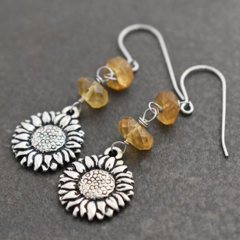 Sunflowers with Citrine Earrings (3)