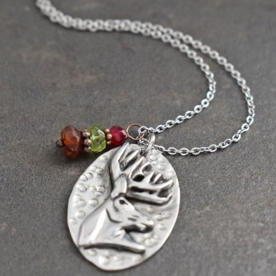 Whitetail Deer Head Necklace