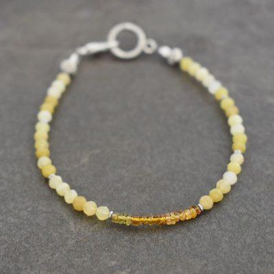 Yellow opal & Tourmaline Bracelet