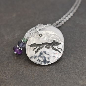 Fox Necklace with Amethyst