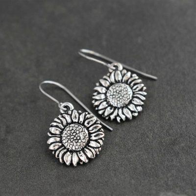 Sunflower earrings